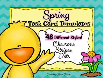 Spring Task Card Templates