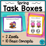 Spring Task Cards: Basic Concepts for Special Education and Autism