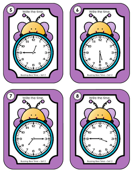Time Task Cards - Buzzing Bee Time