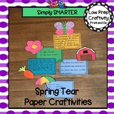 Spring Tear Paper Writing Craftivities