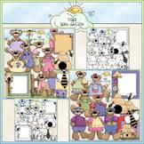 Spring Teddies Clip Art Bundle - Teddy Bears - 2 Clip Art
