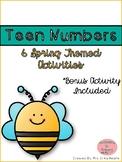 Spring Teen Number Activities