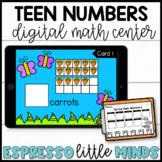 Spring Teen Number Counting Kindergarten Math Center DIGITAL & PRINTABLE