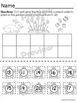 Teen Numbers Spring Fun~Print and Go