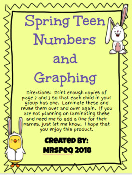Spring Teen Number Ten Frames and Graphing