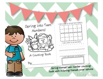 Spring Teen Numbers Counting Book