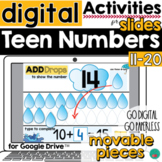 Teen Numbers for Google Slides DISTANCE LEARNING