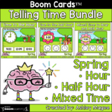Spring Telling Time Boom Card Bundle - Time to Hour, Half