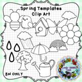 Spring Template Clip Art
