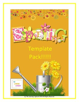 Spring Template  Pack!