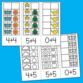 Spring Math - Ten Frames Subitizing Activities