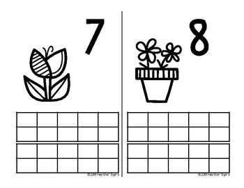Spring Ten Frame Centers and Games (Ink Saving Center)
