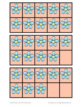 Spring Ten Frame Matching