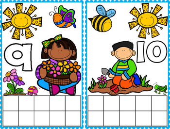 Spring Ten Frame Math Cards