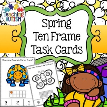 Spring Ten Frame Task Cards