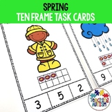 Spring Math Activities, Ten Frame Task Cards