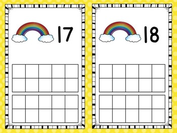Numbers 1-20 - Ten Frame Activities and Centers