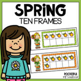 Spring Ten Frames | A Spring Math Center Game
