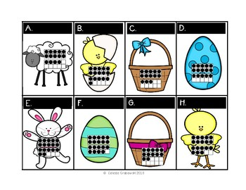Spring Ten Frames Around the Room- Easter theme, secular