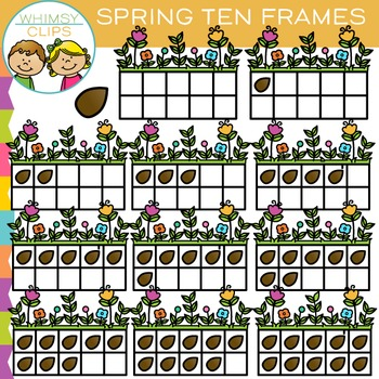 Ten Frames for Spring Clip Art
