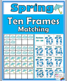 Numbers 1-10 and Numbers 11-20 Ten Frames Number Cards - Spring Math