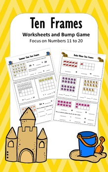 Spring Ten Frames Worksheets and Bump Game