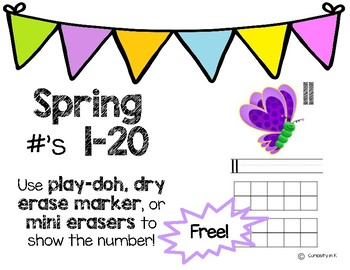 Spring Ten and Double Ten Frame Numbers