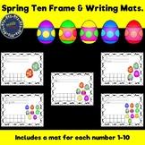 Spring Ten frame & Writing Mats