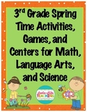 3rd Grade Games/Activities BUNDLE Math, Language, and Science- Spring Test Prep