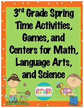 3rd Grade Games/Activities BUNDLE Math, Language, and Scie