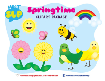 Spring Theme Clipart Graphics