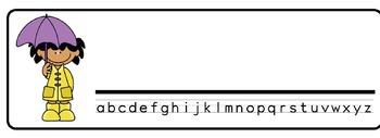 Spring Theme Desk Nameplates (Set of Four)
