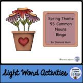 Spring Theme Dolch Nouns Bingo