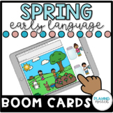 Spring Theme Early Language BOOM CARDS for Speech Therapy Distance Learning