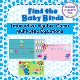 Spring Theme Find the Birds Game Algebra topic Multi-Step Equations