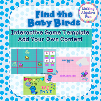 Spring Theme Find the Birds Game Editable Template