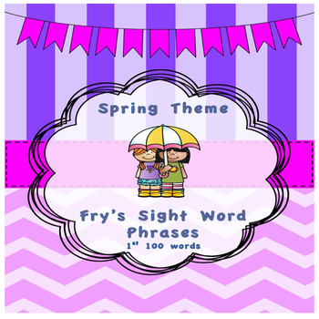 Spring Theme Fry's Phrases List 1