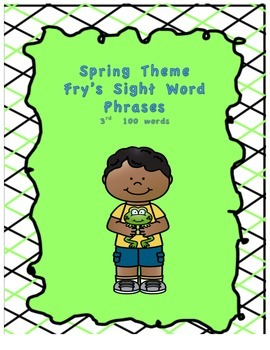 Spring Theme Fry's Phrases List 3