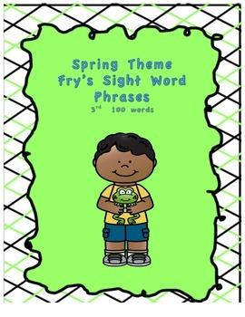 Spring Theme Fry's Phrases List 3