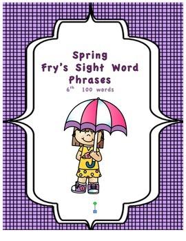 Spring Theme Fry's Phrases List 6