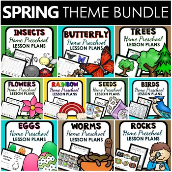 Spring Theme Home Preschool Lesson Plan BUNDLE