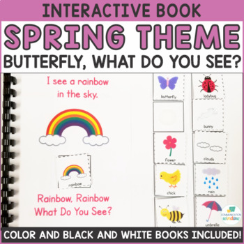 Spring Theme Interactive Adapted Books - Dollar Deal!