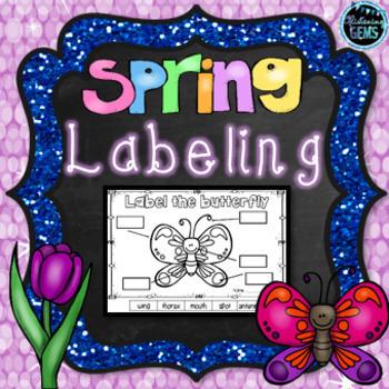 Spring Theme Labeling (NO PREP)