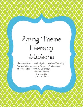 Spring Theme Literacy Stations