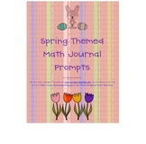 Spring Theme Math Journal Prompts