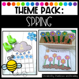 Spring Theme Pack for Preschool, Pre-K, and Kindergarten