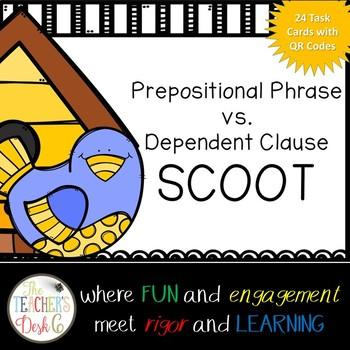 Spring Theme Prepositional Phrase vs. Dependent Clause Scoot