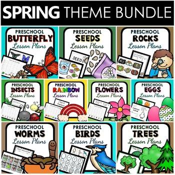 Spring Theme Preschool Classroom Lesson Plan BUNDLE