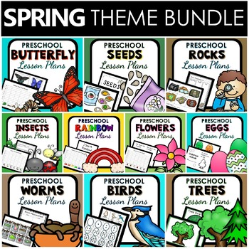 Spring Theme Preschool Lesson Plan BUNDLE