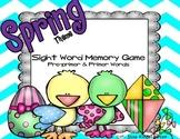Spring Theme-Sight Word Memory Game: Pre-Primer & Primer Words